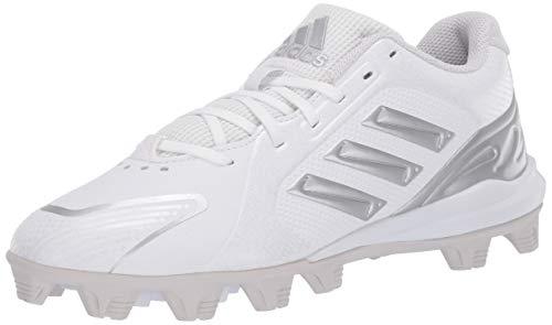 adidas Women's FV9047 Baseball Shoe, White/Silver/Grey, 11