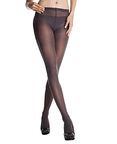 DIM Body Touch Panty Medias, opaco, Gris, 2 para Mujer