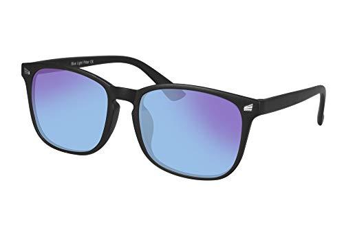 SHINU Farbenblinde Brille zum Maenner mit Rot-Gruen-Blindheit,Farbsehstoerung ,Farbschwaeche-8068 (schwarz)