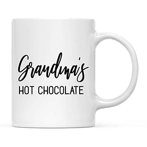 N\A Taza de café Divertido Día Festivo Invierno Navidad Taza de café Regalo de la Abuela Chocolate Caliente Novedad Cumpleaños Navidad Taza de Chocolate Caliente Regalos para Mujeres Hombres