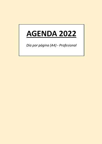 AGENDA 2022: Día por página (A4) - Profesional