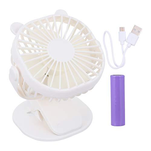 NUOBESTY Ventilador de aire alimentado por USB de plástico de verano de refrigeración ventilador de aire tipo clip