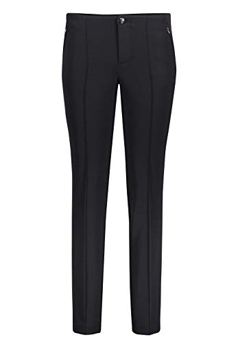 MAC Jeans Damen Anna Straight Jeans, Schwarz (Schwarz 090), 38 / L30