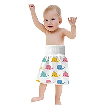 Upgrade Cotton Baby Training Skirt Cloth Diaper Skirts Sleeping Bed Clothes for Boy Girl Potty 2 in 1 Boy Girl Training Absorbent Skirt[USA in Stock]