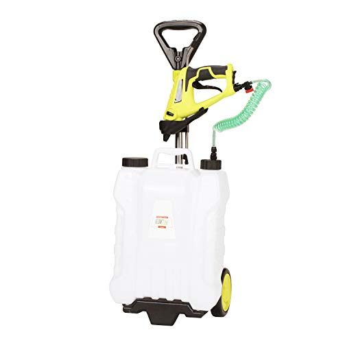 FlowZone Shower MAX 4-Gallon Lithium-Ion Battery Powered Rolling Sprayer