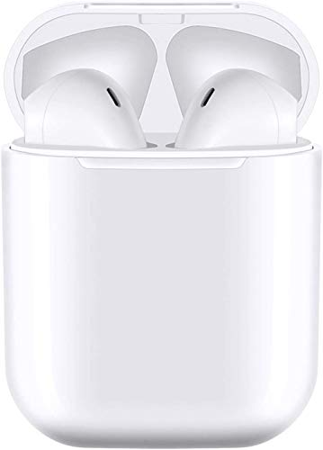 Auricular Bluetooth 5.0, Auriculares inalámbricos Bluetooth In-Ear Mini Auriculares, reducción del Ruido estéreo 3D HD -IPX7 Resistentes al Agua-Blanco for iPhone/Airpods/AirPods Pro/Apple (Blanco)