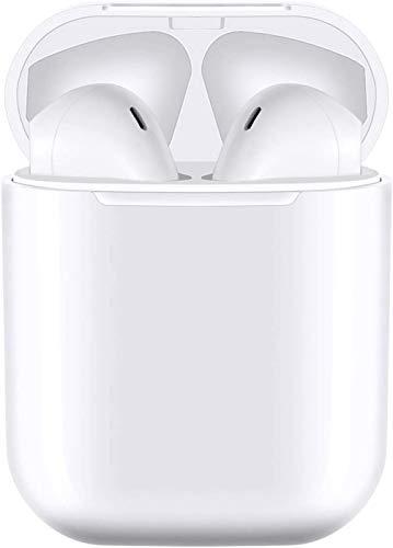 Auricular Bluetooth 5.0, Auriculares inalámbricos Bluetooth In-Ear Mini Auriculares, reducción del Ruido estéreo 3D HD -IPX7 Resistentes al Agua-Blanco for iPhone/Airpods/AirPods Pro/Apple
