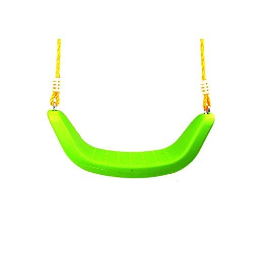 Al Aire jardín Hamaca Grande en Forma de U Gruesa Antideslizante Columpio de la Silla de plástico de los niños Que Pesa 200 kg. Columpio Jardín (Color : Green-A)