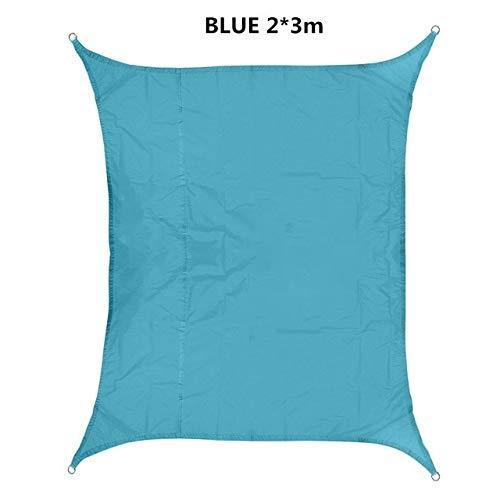 FUSSUF Shade 420D Impermeable Oxford rectángulo toldo de protección Solar Neto toldo al Aire Libre Sun Refugio Jardín Patio Piscina Toldo de Vela (Color : Blue 2x3m)