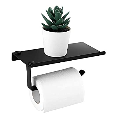 Amazon - Save 50%: Toilet Punch-Free Toilet Paper Holder Can Put Cell Phone Plants (Black)