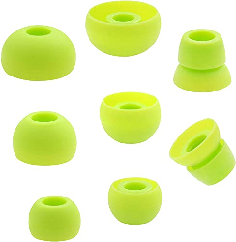 8pcs Silicone Eartips Earbuds Replacement Ear Tips Compatible with Beats by dr dre Powerbeats 3 Stereo Wireless Earphones (Green)