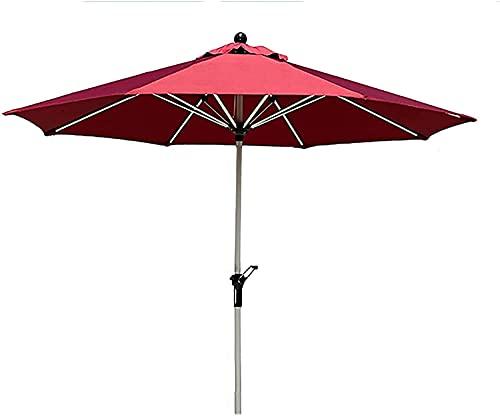 ガードレール Patio Umbrellas Family Porch Picnics Deck Courtyard Beach Camping Barbecue Bar Table Umbrella (Color:Red;Size:2.45X2.7M)