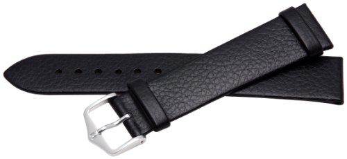 Bernex GB42284 - Correa de Cuero Unisex, Color Negro (20 mm)