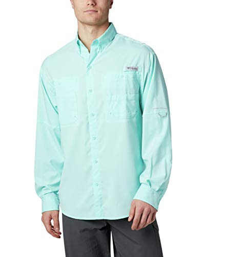 Columbia Men's Plus Tamiami II Long Sleeve Shirt, Gulf Stream - Large Tall