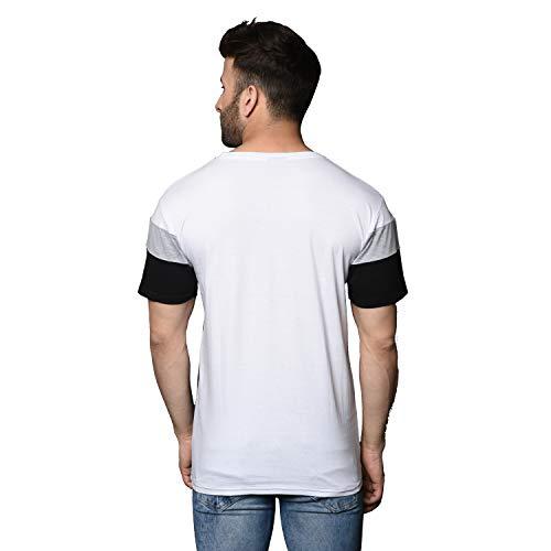 Tfortees Men's Cotton Round Neck Colorblock Half Sleeve Combo T-shirt - Pack of 2 ( Multicolour , XL-40)