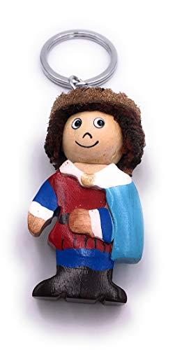 H-Customs König Hofnarr Clown Figur Holz Edel Handmade Schlüsselanhänger Anhänger