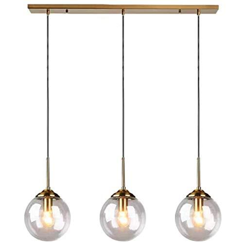 Luces Colgantes Lámpara Colgante de Vidrio soplado a Mano de 3 Llamas,...