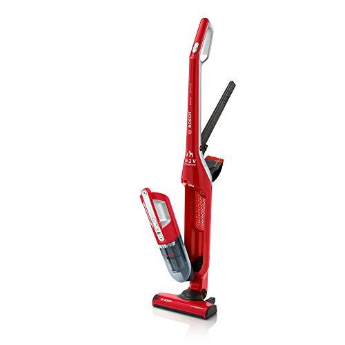 Bosch Flexxo Serie | 4 - Aspirapolvere Ricaricabile senza Fili, Scopa Elettrica e Aspirabriciole 2in1 con Kit Accessori per ProAnimal Integrati, 25.2V, Rosso