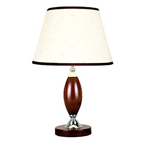 Modern Chinese stijl eenvoudige massief houten tafellamp slaapkamer nacht woonkamer dimmen huwelijk warm licht retro lampen