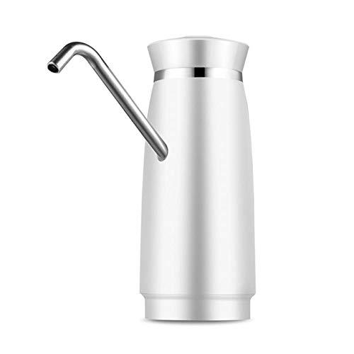 XGQ Acero Inoxidable eléctrico automático portátil de la Bomba de Agua alimentador del Agua del dispensador Bottle Switch galón de Bebida (Negro) (Color : White)