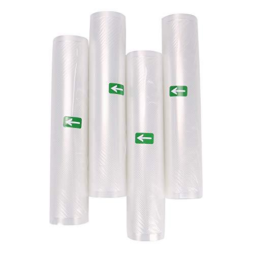 YORKING 4 x Folien 30 * 600 4 Rollen Vakuumierfolie, Vakuumschlauch für Vakuumierer Lebensmittel Vakuumiergerät
