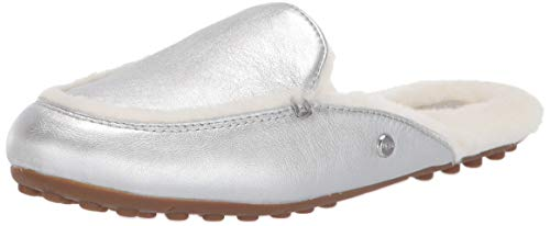 UGG Women's Lane Metallic Mule, Silver, 5 M US