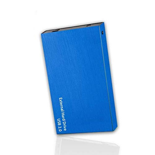 Portable External Hard Drive, USB 2.0, 2.5' Slim External Hard Drive Plug and Play Hardrive for Storage, Backup for Computer, MAC, Desktop, Laptop, MacBook, Chromebeook (100 GB, Blue)