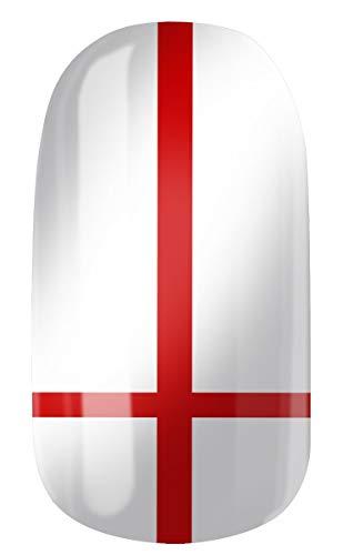 VENGANAILS Nagelfolie, Engelse vlag, fanartikel voor vrouwelijke voetbalfans, high performance nagelwraps, zelfklevend, geen import uit China, NIEUW