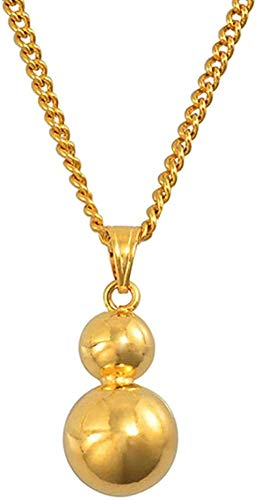 MGBDXG Co.,Ltd Collar de Cuentas de Bola Colgante de dijes Collares de Cadena para Mujer niña Color Dorado joyería Africana PNG Regalos Regalos