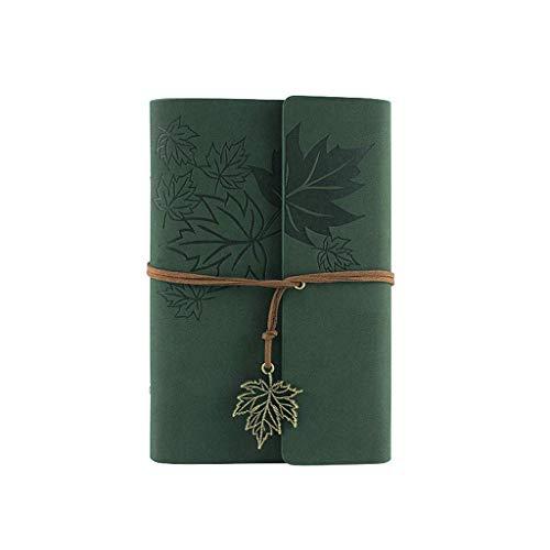Cuaderno de cuero del diario de la escritura, diario recargable del cuaderno encuadernado espiral clásico