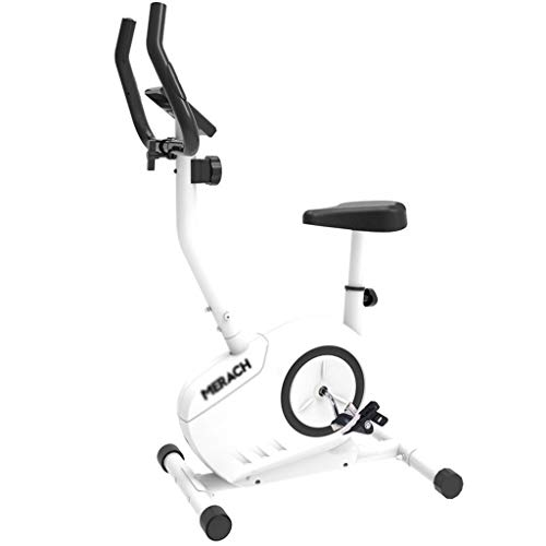 WEI-LUONG plegable Inicio bicicleta estática, controlada magnéticamente ultra silencioso bicicleta de Exercise cubierta pérdida de peso del ejercicio de la máquina Gym Equipment, Blanco, 50 * 60 * 130