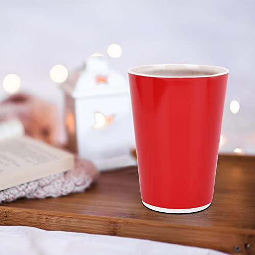 Copa de Agua, excelente Taza de Viaje de Acero para Suministros de hogar Melamina 80 x 110 mm (Rojo)