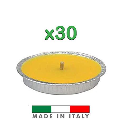 Palucart Candela citronella Giardino citronella Alluminio 18 cm Set da 30 Pezzi Giardinaggio antizanzare Feste ed Eventi