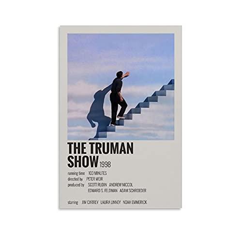 Affiche du film The Truman Show Poster décoratif sur toile pour salon et chambre à coucher 20 x 30 cm