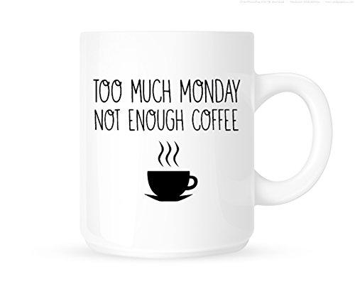 Te veel maandag. Niet genoeg koffie. - Grappige nieuwe thee/koffiemok/beker - geweldig cadeau-idee