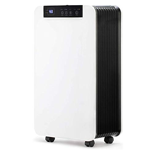 Buy Discount HWZQHJY Dehumidifier 12L/Day - Digital Control Panel, Air Filter, Continuous Drainage, ...