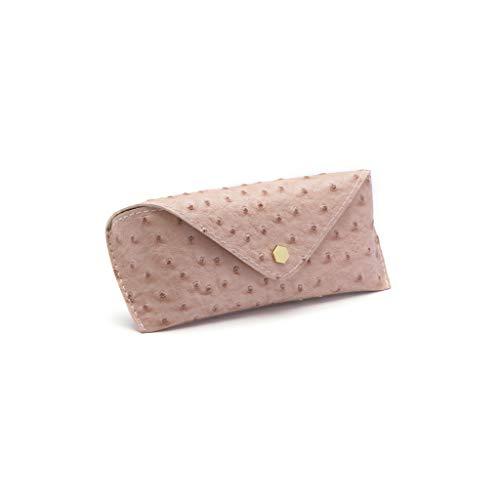 Portable Simple Gafas de Sol Bolsa de Caja de los vidrios Anti-presión de los Hombres y Las Mujeres de los vidrios de la Caja de Almacenamiento Retro Gafas de Sol (Color : Pink)