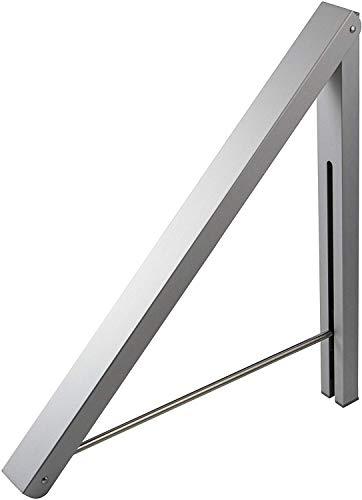 Gedotec Aufbau-Haken Kleiderhaken Garderobe Kleiderlüfter klappbar - OVY | Länge 330 mm | Klapphaken silber für Wäsche-Kleiderbügel | 1 Stück - Wand-Kleiderhalter Aussen-Bereich für Balkon & Schränke