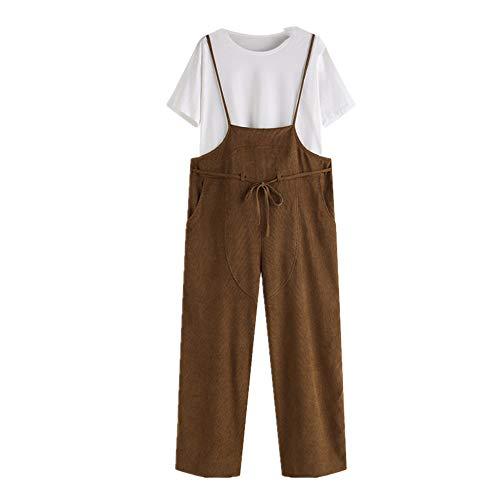 N\P Mono largo de las señoras de los pantalones más el tamaño del mono de las señoras