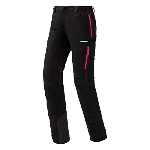 Trangoworld Xilo Pantalon Long, Femme XL Noir/Rouge