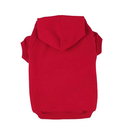 BINGPET Blank Basic Polyester Pet Dog Sweatshirt Hoodie BA1002, Red Large
