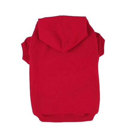 BINGPET Blank Basic Polyester Pet Dog Sweatshirt Hoodie BA1002, Red Medium