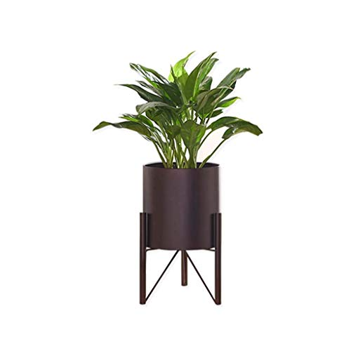 SBDLXY Flower standMetal Plant stand with Plant Pot, Iron Flower Pot Holder Rack Display Shelf for Garden Home Office Decor (Color : Black)