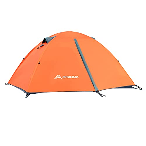 BISINNA 2/4 Person Camping Tent Lightweight Backpacking Tent Waterproof Windproof Two Doors Easy Setup Double Layer Outdoor Tents for Family Camping Hunting Hiking Mountaineering Travel