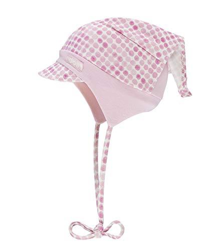 Döll Baby-Mädchen Kopftuchmütze mit Schirm zum Binden Jersey Sonnenhut, Rosa (Pink Lady|Rose 2720), 47