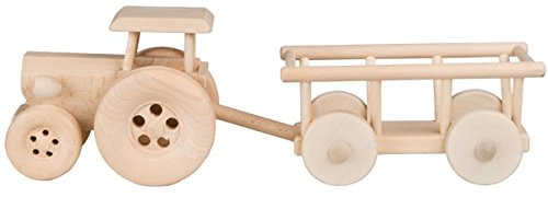 Hofmeister houtwaren kinderspeelgoed van hout Eén maat trekker, met hoowagen.