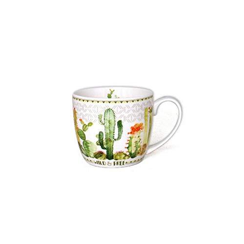 Mug imprimé cactus - 380 mL - Céramique - Blanc