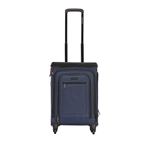Travelers Club 20' Top Expandable Upright W/USB Port Connector, Suitcase, 21' Spinner Carry-On, Navy Blue