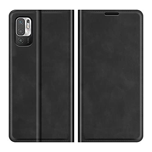 Fertuo Funda para Poco M3 Pro/Xiaomi Redmi Note 10 5G, Funda Libro con Tapa de Cuero Piel Flip Case Cover con Cierre Magnetica, Ranuras para Tarjetas [Interna TPU] Carcasa para Poco M3 Pro, Negro