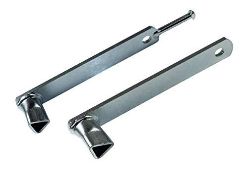 SN-TEC Dreikantschlüssel Set, Pfostenschlüssel, Feuerwehrschlüssel für versenkbare und umklappare Poller M12 (19mm)